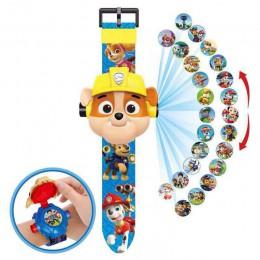 Paw Patrol 3D projekcja Cartoon dzieci zegarki Anime rysunek edukacyjne małe dzieci chłopcy dziewczęta zegar zabawki dla dzieci