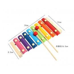 Kolorowe instrumenty muzyczne dla dzieci zabawki drewniane ramki ksylofon edukacyjne dla dzieci rozwojowe drewniane zabawki prez
