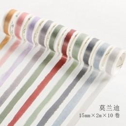 10 sztuk/paczka alfabet liczba dekoracyjna naklejka taśma klejąca washi taśma diy do scrapbookingu etykieta samoprzylepna maskuj