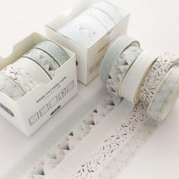 5 sztuk/zestaw Pine Fog Bullet Journal Washi taśma Scrapbooking DIY taśma samoprzylepna etykieta samoprzylepna taśmy maskujące W