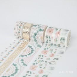 5 sztuk/zestaw dekoracyjne Retro boski złoty zestaw taśm washi japońskie naklejki papierowe Scrapbooking Vintage klej Washitape