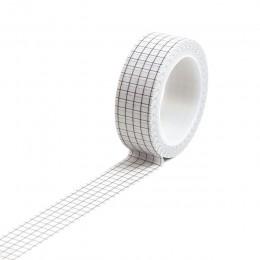 10M czarny biały siatka Bullet Journal Washi taśma samoprzylepna taśma diy do scrapbookingu etykieta samoprzylepna japoński taśm