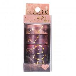 Gwiaździste niebo kwiaty wiśni Bullet Journal zestaw taśm washi klej taśma diy do scrapbookingu etykieta samoprzylepna japoński