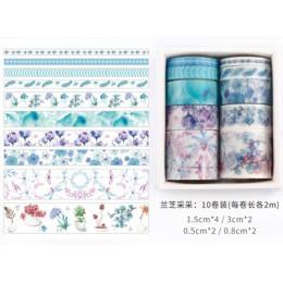 10 sztuk/zestaw dekoracyjne Kawaii zestaw taśm washi morze i seria leśna japońskie naklejki papierowe japoński papiernicze Scrap