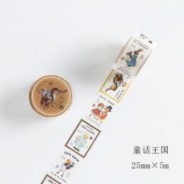 Vintage Stamp series dekoracyjna taśma klejąca maskująca taśma washi DIY naklejki scrapbooking etykieta japońska papeteria