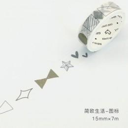 Taśma Washi do majsterkowania pakowanie prezentów Scrapbooking i Craft, samoprzylepna papierowa taśma maskująca z pięknymi druko