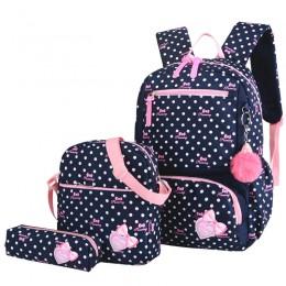 3 sztuk drukowanie torby szkolne dla dziewczynek nastolatek tornister modne plecaki szkolne dla dzieci dzieci torba podróżna cza