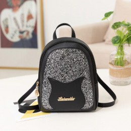 Dziewczęcy mały plecak 2019 marka moda błyszczący cekin torba na ramię kobiety wielofunkcyjny Mini plecak dla nastoletnich dziew