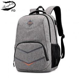 FengDong torby do liceum dla nastoletnich chłopców plecak podróżny chłopiec torba na laptopa 15.6 dzieci tornister chłopiec torn