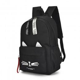 Nowe oba ramiona plecak dla dziewcząt piękne kocie uszy studenckie dzieci torby szkolne dla chłopców torba dla dzieci Mochila Es