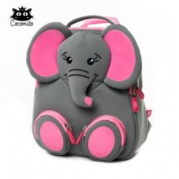 3D szczęśliwy słoń Model szkoła duże wodoodporne Zoo ze wzorami zwierząt Mochila Infantil moda chroniący przed zgubieniem prezen