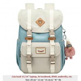 Nowe torby szkolne dla dziewczynek Plecak dla studentów torba dziecięca zwięzłe wodoodporne plecaki kampusowe Plecak Szkolny Moc