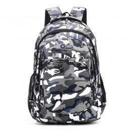 2 rozmiary kamuflaż wodoodporne torby szkolne dla dziewczynek chłopcy ortopedyczny plecak dla dzieci książka dla dzieci torba Mo