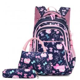 Dla dzieci plecaki z nadrukiem zestaw tornister wodoodporne dzieci torby szkolne dla dziewczynek księżniczka plecaki szkolne dla