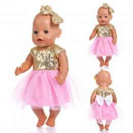 Nowe modne ubranie dla 43cm Zapf laleczka bobas 17 Cal urodzonych dzieci lalki ubrania i akcesoria, balon nie wliczone w cenę