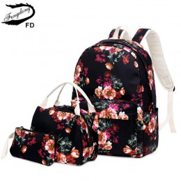FengDong dziewczęcy kwiat szkolny plecak dziecięcy zestaw z plecakiem szkolnym w stylu chińskim piórnik piórkowy kwiatowy plecak