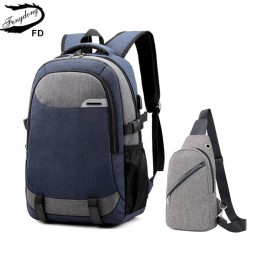 Fengdong duże szkolne torby dla nastolatków chłopcy wodoodporny duży szkolny plecak usb charge boy torba z paskiem do zawieszeni