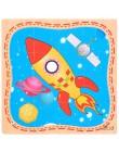 Zabawki montessori drewniane zabawki edukacyjne dla dzieci wczesne uczenie się 3D Puzzle dla dzieci ćwiczenia matematyczne Match