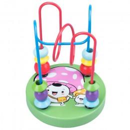 Dziecko drewniane zabawki dzieci Montessori drewniane edukacyjne zabawki dziecko chłopiec dziewczyny koła koralik drut kolejka g