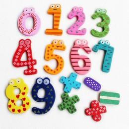 Numer z drewna 0-9 A-Z alfabet literowy magnes edukacyjne zabawki dla dziecka Kid zabawki edukacyjne prezent