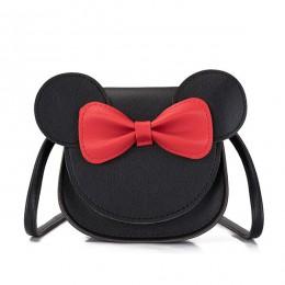Monsisy 2019 portmonetka dziewczęca torebka dziecięca portfel małe pudełko na monety torba śliczna mysz kokarda portfel dziecięc