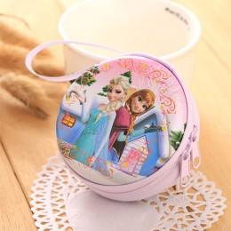 STANCHION gorąca sprzedaż w stylu kreskówki na monety torebka Elsa Anna księżniczka dziewczyny etui na klucze portfel dzieci kró