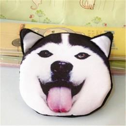 3D dziewczyna kopertówka panie twarz zamek mini kot portmonetki pies torebka dla dzieci pluszowe bolsa de moeda monety etui mone