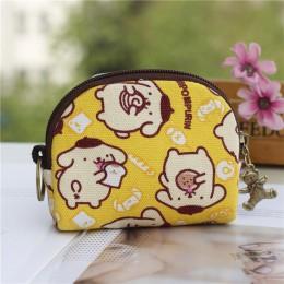 Retro Mini torba kobiety portmonetki Kawaii portfel dziewczyny kot mała torebka płócienna torby na karty damskie torebki damskie