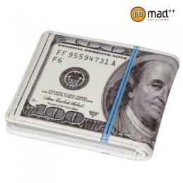 Śliczne 100 USD dolar amerykański portfel dla chłopców dzieci skóra pu dla mężczyzn portfel nowość prezent nastolatki Student to
