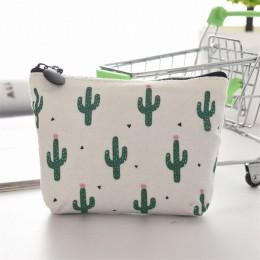 1 sztuk dla dzieci torebka damska płótno monety portfel moneta torebka saszetka na pieniądze kaktus portmonetka etui na klucze m