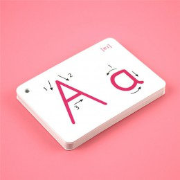 26 list angielski Flash Card odręczny Montessori wczesny rozwój nauka edukacyjne zabawki dla dzieci prezent dla dzieci z klamrą