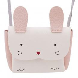 Nowa gorąca sprzedaż dziewczyny PU Coin torebka portfel dzieci królik torba na jedno ramię mała portmonetka zmień portfel torba