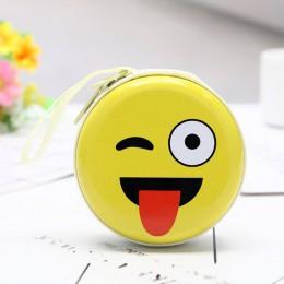 AOTIAN dziecko Mini okrągły Wechat wyrażenie mała portmonetka portfel portmonetka torebka śliczne Mini worki na pieniądze etui d
