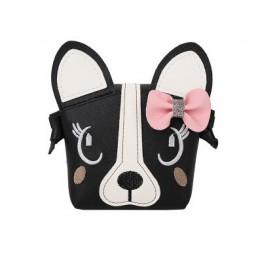 Nowa kreskówka dla dzieci monety kiesy słodkie łuk pies mini na ramię Messenger torba dziewczynek piękne portfele prezent dla dz