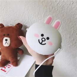 Gumowy elegancki zabawkowy portfel dla dzieci chłopca dziewczynki w śmieszne zwierzaki wielofunkcyjny pakowny