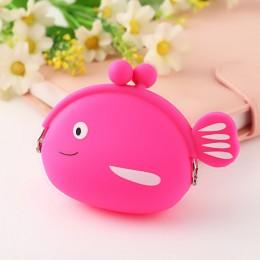 2019 nowe dziewczyny Mini portmonetka silikonowa ryby małe drobne portfel portmonetka kobiety portfel na klucze portmonetka dla