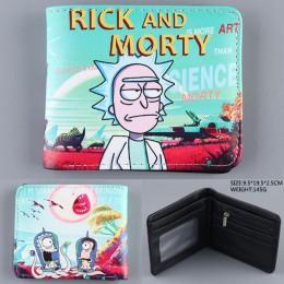 Na co dzień skórzana torebka Anime Cartoon Rick i Morty portfele carteira piękne karty Worki na pieniądze dla dzieci chłopiec dz