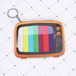Moda skórzana torebka na monety dla dzieci kreatywna kreskówka portfel kopertówka tv wargi kształt korony mała torebka mini cart