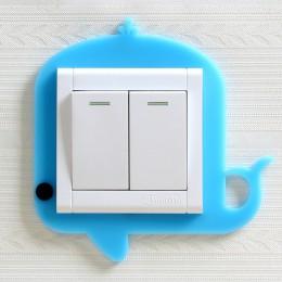 Cute Cartoon 3D ściany krzemu na naklejki na wyłącznik dzieci Luminous przełącznik światła dekoracji wnętrz