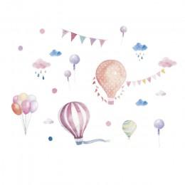 Balony flaga zwierzęta deszcz samochód ścianę naklejki na pokoje dla dzieci naklejki dzieci sypialnia dekoracja przedszkola nakl