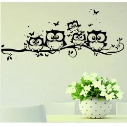 Śliczne 5 sowy na naklejki ścienne z motywem drzewa naklejki ze zwierzętami naklejka na ścianę z motylem dla dzieci naklejki ści