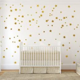 Styl skandynawski pięcioramienna naklejka ścienna w kształcie gwiazdy diy ściana naklejki ozdobne dla dzieci dzieci sypialnia pr