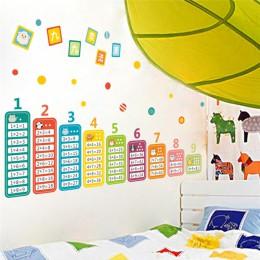 Cartoon tabela mnożenia 99 dla dzieci zabawka matematyczna naklejki ścienne dla pokoje dla dzieci dziecko dowiedz się edukacyjne