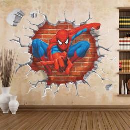 45*50CM 3D popularne Spiderman Cartoon Movie home naklejka naklejka ścienna/adesivo de parede dla dzieci wystrój pokoju dziecko