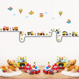 Można usunąć naklejki ścienne hurtownia dekoracji pokoju dziecięcego przedszkola na ścianie naklejki samochodowe kreskówki