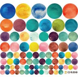 Kolor tęczy kropki naklejka ścienna w kształcie gwiazdy dla dzieci pokój dekoracja wnętrz dla dzieci naklejki kreatywny wymienny