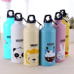 Cartoon Animal butelka na wodę przenośna kolba wodna piękny Sport turystyka rowerowa szkolna butelka na wodę dla dzieci butelka