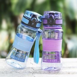 UZSPACE sportowa butelka na wodę 350ml Tritan dobrej jakości dziecko szczelna wycieczka turystyka przenośna lina herbata moja ul