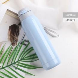 260 ml/450 ml kreatywny termos ze stali nierdzewnej butelka ze słomką sport butelka termosowa dla dzieci przenośny termos słomy