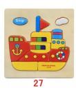 Zabawki montessori drewniane zabawki edukacyjne dla dzieci puzzle edukacyjne dla małych dzieci puzzle 3D Cartoon Animal Traffic